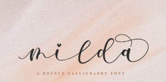 Milda Calligraphy Font