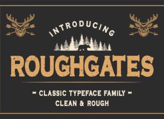 Roughgates Display Typeface