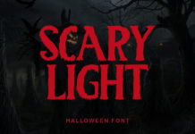 Scary Light Display Font