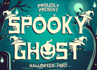Spooky Ghost Decorative Font